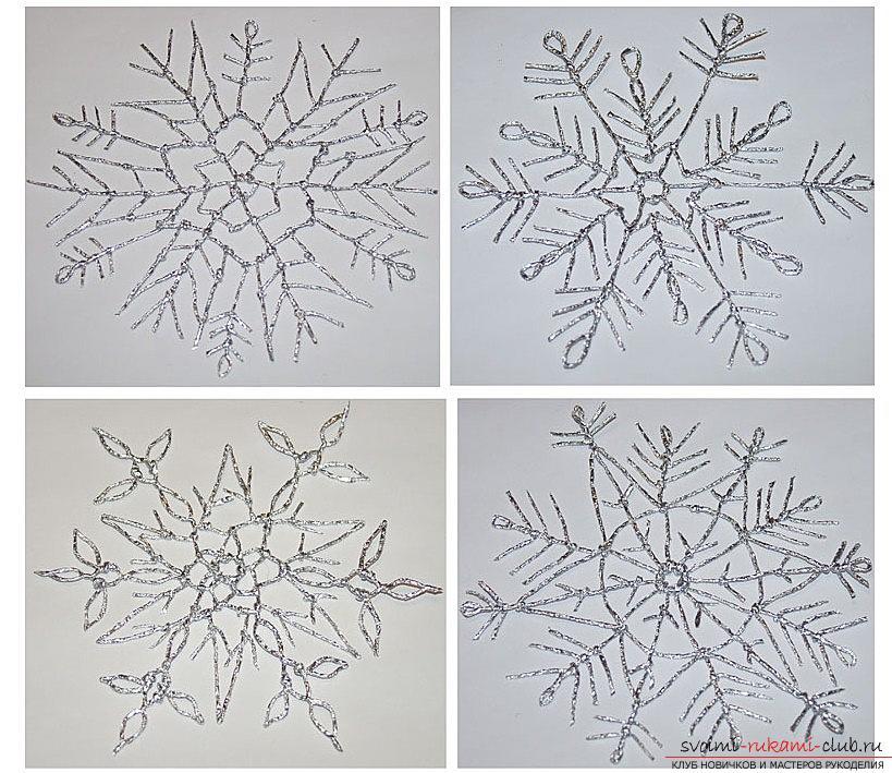 Новогодние игрушки из фольги своими руками: идеи свечки и снежинки