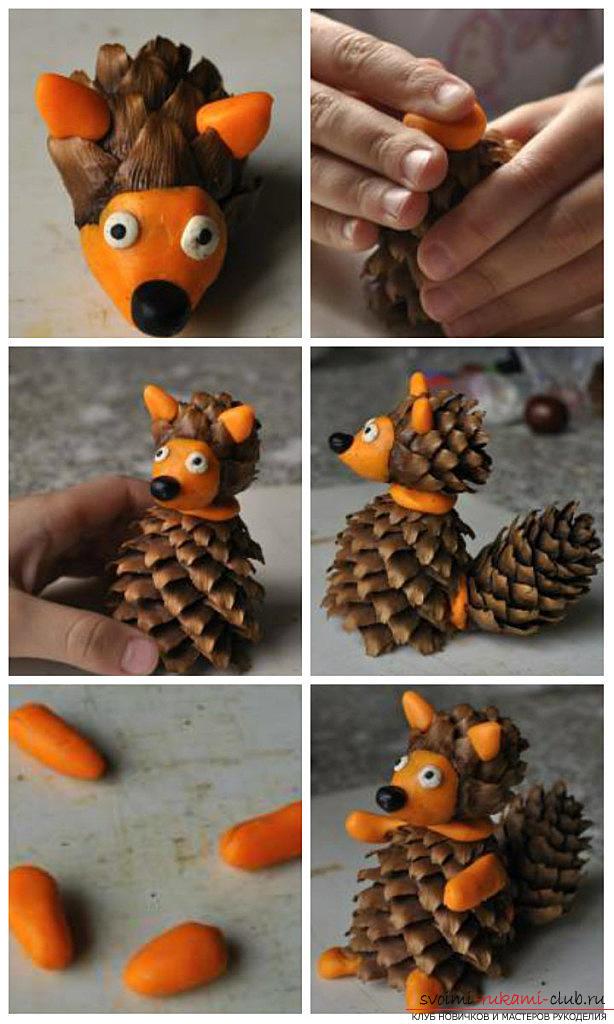 Поделки животных из шишек своими руками фото схемы - Parus-murman.ru
