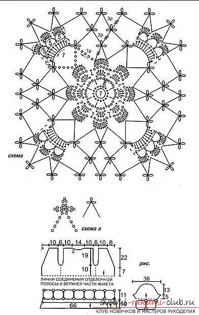 Как связать крючком ажурные летние женские кофточки в разных техниках со схемами.. Фото №13