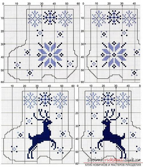 Схемы для вышивок для валенок