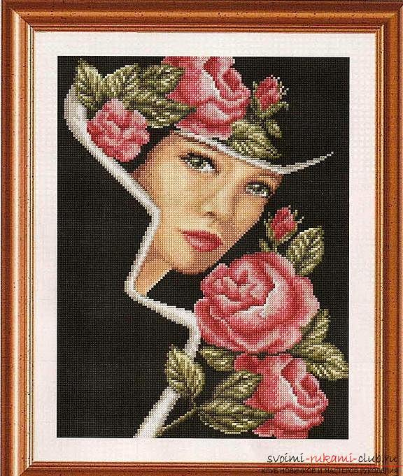 Как вышить крестом нежные розы быстро и легко. Фото №13