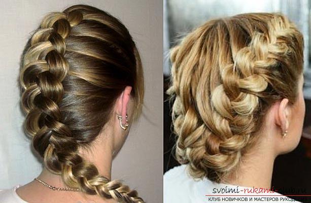 Плетение кос на средние волосы фото своими руками