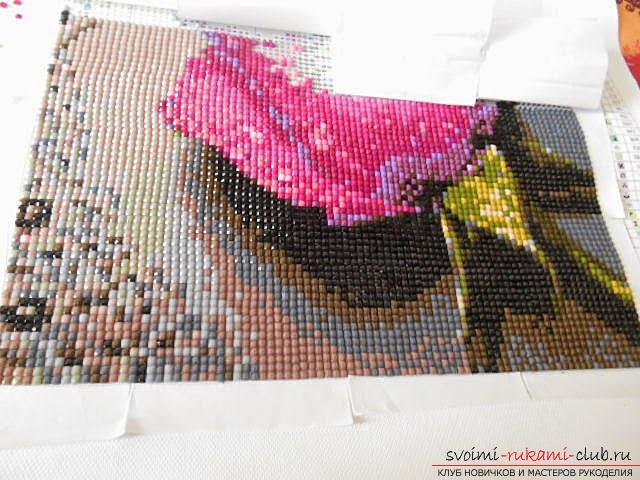 Подробный мастер-классов по алмазной вышивке с пошаговым описанием и фото.. Фото №6