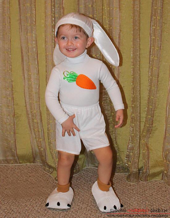 Новогодние костюмы своими руками, карнавальный костюм для мальчика, как сшить костюм зайца для мальчика своими руками, советы, рекомендации и пошаговые инструкции.. Фото №15