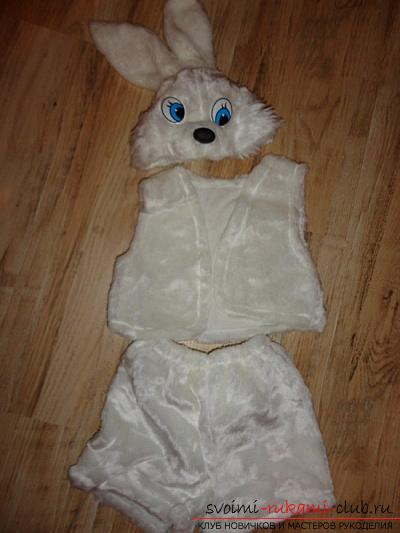 Новогодние костюмы своими руками, карнавальный костюм для мальчика, как сшить костюм зайца для мальчика своими руками, советы, рекомендации и пошаговые инструкции.. Фото №5