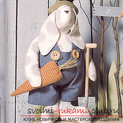 Кукла Тильда своими руками, популярный заяц Тильда, новогодний заяц Тильда, как правильно выбрать ткань для пошива зайца Тильда, выкройки зайца, выкройки одежды для зайца Тильда.. Фото №41