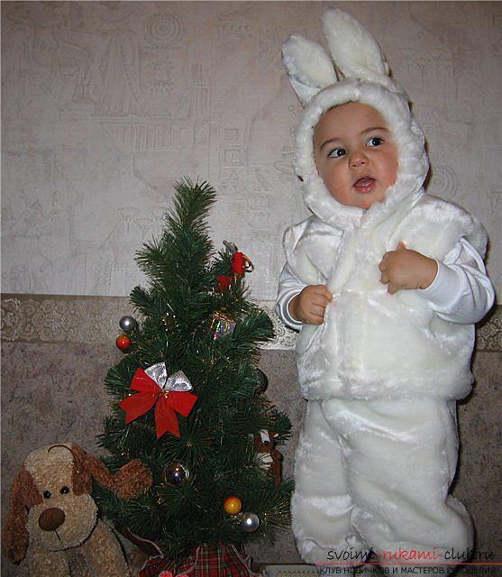 Новогодние костюмы своими руками, карнавальный костюм для мальчика, как сшить костюм зайца для мальчика своими руками, советы, рекомендации и пошаговые инструкции.. Фото №3