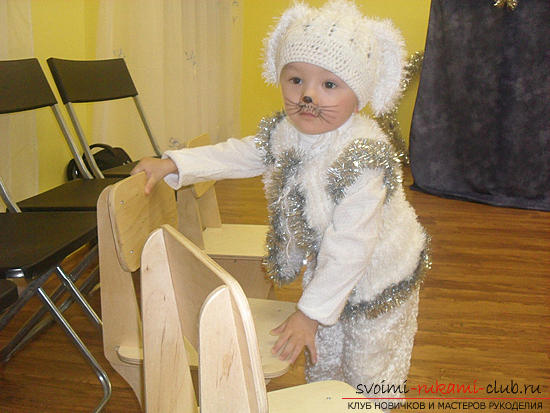 Новогодний костюм для мальчика зайка своими руками