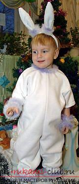 Новогодние костюмы своими руками, карнавальный костюм для мальчика, как сшить костюм зайца для мальчика своими руками, советы, рекомендации и пошаговые инструкции.. Фото №16