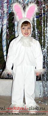 Новогодние костюмы своими руками, карнавальный костюм для мальчика, как сшить костюм зайца для мальчика своими руками, советы, рекомендации и пошаговые инструкции.. Фото №17