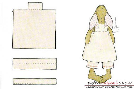 Кукла Тильда своими руками, популярный заяц Тильда, новогодний заяц Тильда, как правильно выбрать ткань для пошива зайца Тильда, выкройки зайца, выкройки одежды для зайца Тильда.. Фото №9