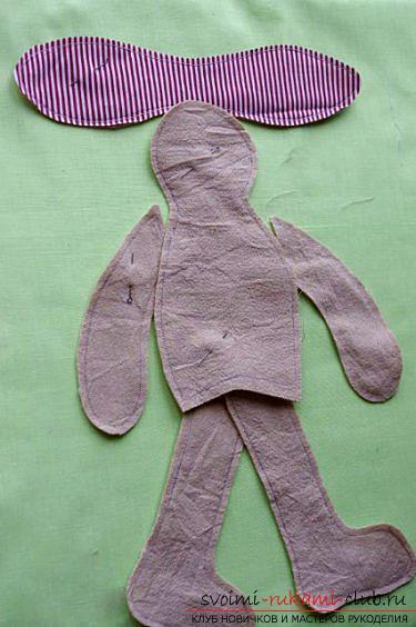 Кукла Тильда своими руками, популярный заяц Тильда, новогодний заяц Тильда, как правильно выбрать ткань для пошива зайца Тильда, выкройки зайца, выкройки одежды для зайца Тильда.. Фото №3