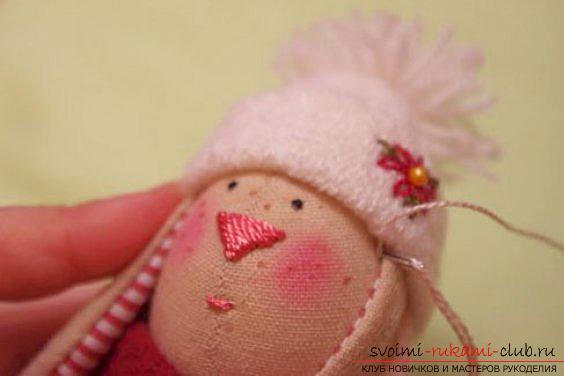 Кукла Тильда своими руками, популярный заяц Тильда, новогодний заяц Тильда, как правильно выбрать ткань для пошива зайца Тильда, выкройки зайца, выкройки одежды для зайца Тильда.. Фото №30