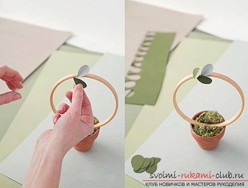 Как сделать декоративное деревце из бумаги, несколько мастер классов по созданию деревьев в технике квилинг, топиариев из бумаги и оригами. Фото №17