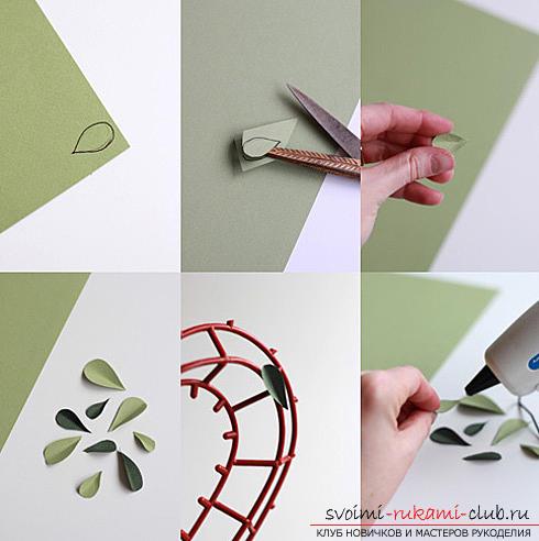 Как сделать декоративное деревце из бумаги, несколько мастер классов по созданию деревьев в технике квилинг, топиариев из бумаги и оригами. Фото №16