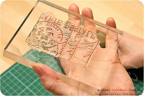 Красивый штамп для скрапбукинга своими руками. Фото №2