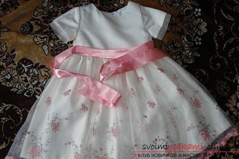 Сшить нарядное платье девочке 3 года