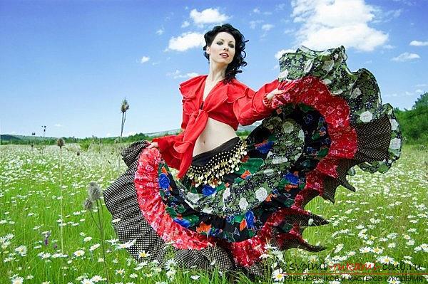 Яркая цыганская юбка своими руками с выкройкой. Фото №3