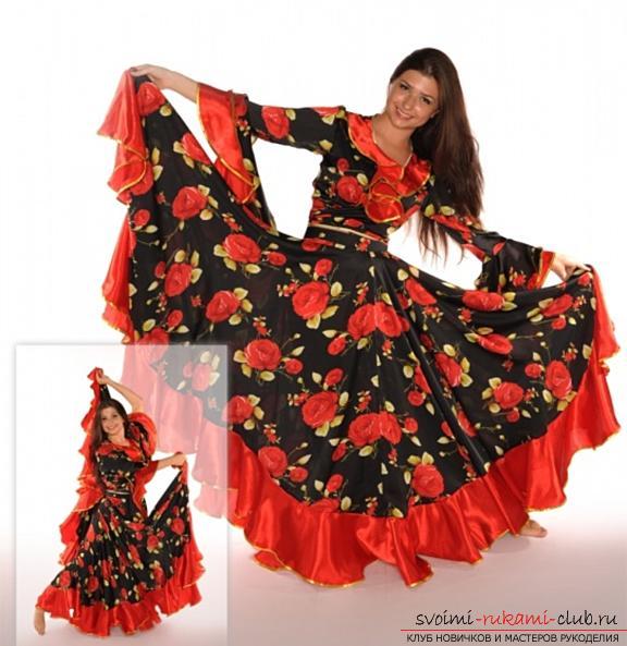 Яркая цыганская юбка своими руками с выкройкой. Фото №2