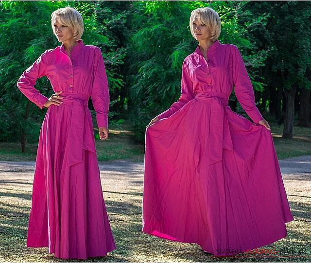 Длинное платье в пол своими руками выкройки 167