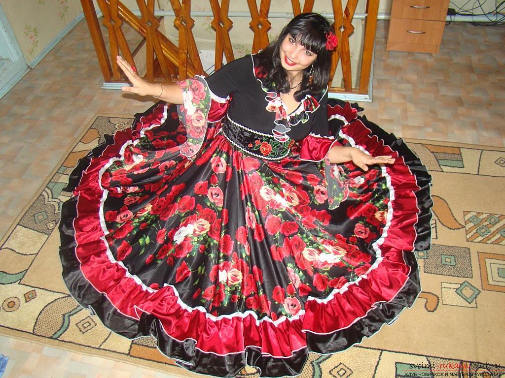 Яркая цыганская юбка своими руками с выкройкой. Фото №4