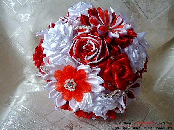 Магазин сайт свадебные букеты канзаши для украшения стола