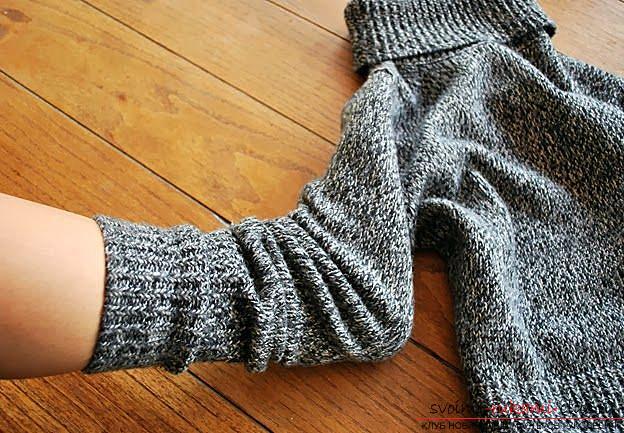 Необычные носки из теплого свитера, как быстро и легко сделать носки из старого свитера своими руками