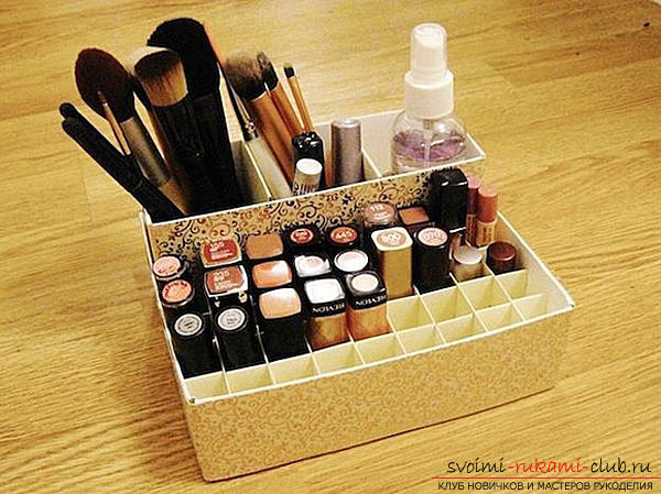 Коробка для косметики своими руками
