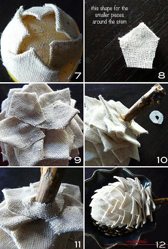 Новогоднее _ Как сшить шишки из ткани _ Два мастер-класса