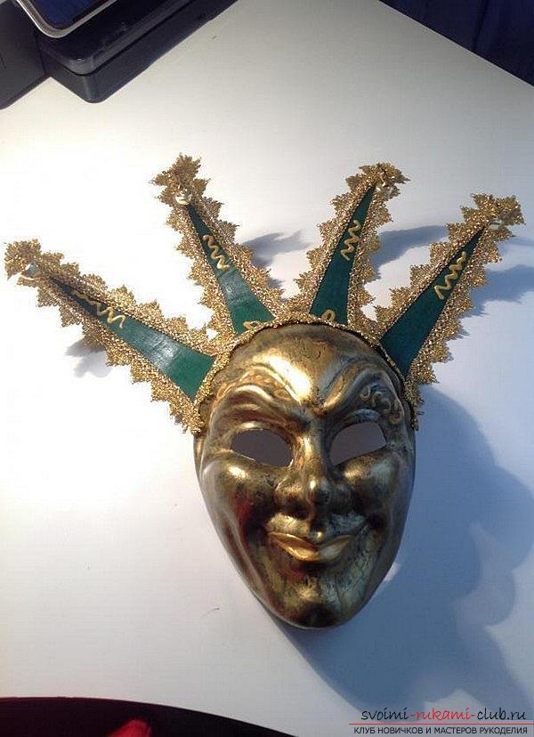 Как сделать красивую маску в венецианском стиле для декорирования дома, пошаговые фото и описание. Фото №1