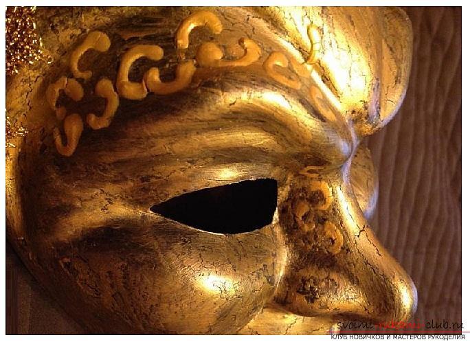 Как сделать красивую маску в венецианском стиле для декорирования дома, пошаговые фото и описание. Фото №3