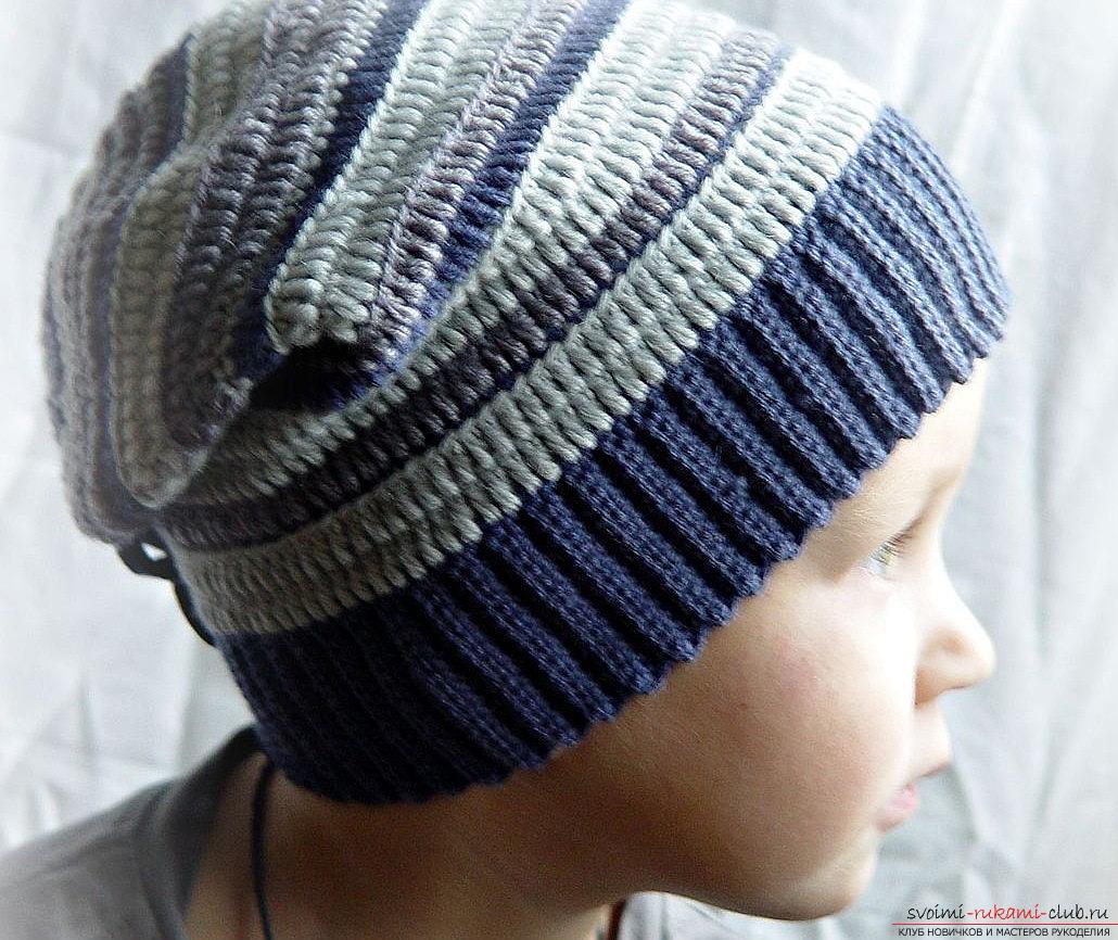 Вязание шапочки мастер класс для мальчика как сделать #11
