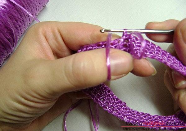 вязание мочалок из полипропилена