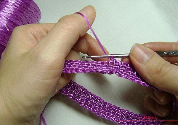 Видео мастер класс вязание мочалки
