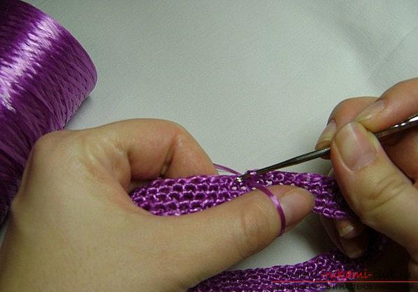 Вязание мочалки крючком из полипропилена для начинающих - работа своими руками
