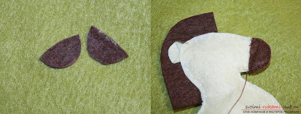 Как сшить лошадку из фетра своими руками, пошаговые фото и подробные описания работы, несколько различных вариантов пошива, как вручную, так и на машинке. Фото №29