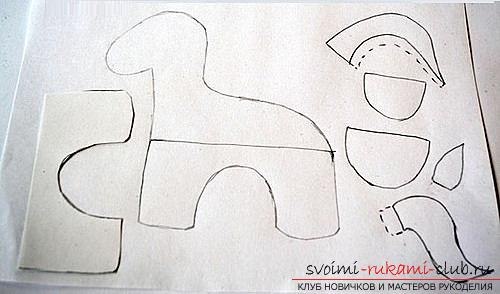 Как сшить лошадку из фетра своими руками, пошаговые фото и подробные описания работы, несколько различных вариантов пошива, как вручную, так и на машинке. Фото №2
