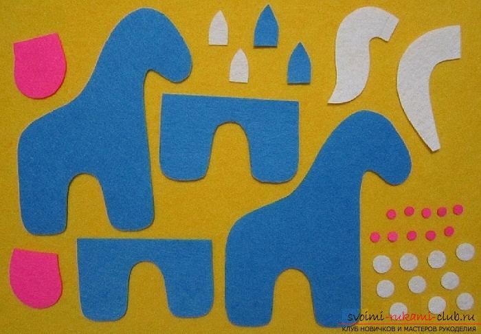 Как сшить лошадку из фетра своими руками, пошаговые фото и подробные описания работы, несколько различных вариантов пошива, как вручную, так и на машинке. Фото №36