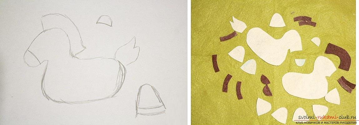 Как сшить лошадку из фетра своими руками, пошаговые фото и подробные описания работы, несколько различных вариантов пошива, как вручную, так и на машинке. Фото №26