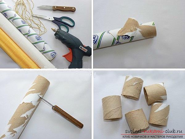 Как сделать подставку для салфеток из картона своими руками 60
