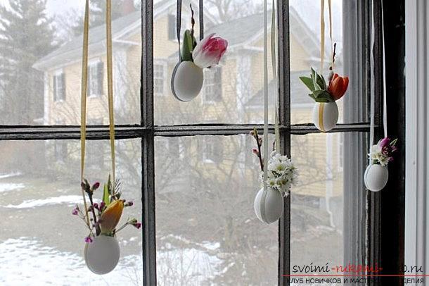 Праздничный декор помещения: создание пасхальной подвесной композиции в яичной скорлупе своими руками.. Фото №5
