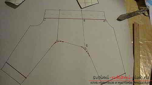Поэтапное описание построения выкройки комбинезона для йорка. Фото №3