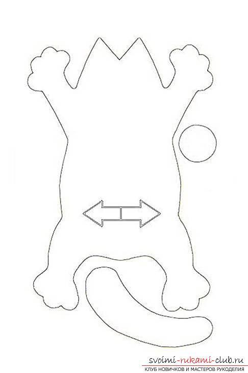 Выкройка и инструкции по изготовлению кота Саймона.. Фото №2
