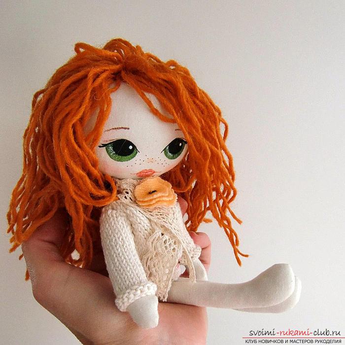Легкая выкройка куклы из ткани для начинающих