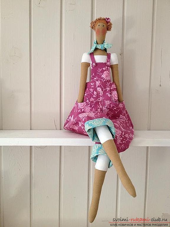 Текстильная кукла Тильда и выкройка одежды для огородного ангела