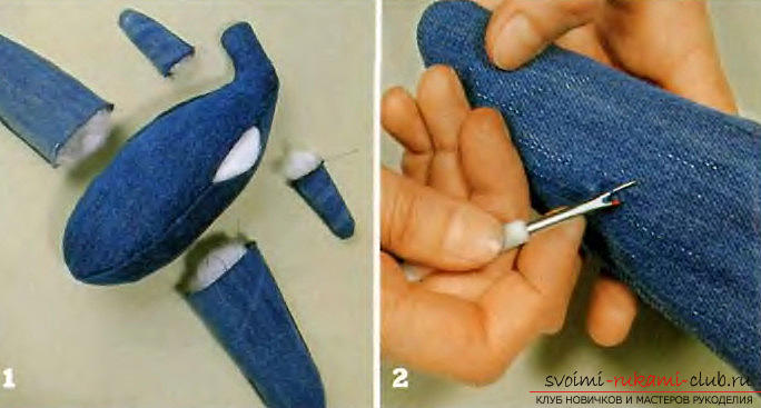Как сделать самолет из джинсовой ткани своими руками.. Фото №4