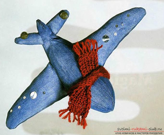 Как сделать самолет из джинсовой ткани своими руками.. Фото №1