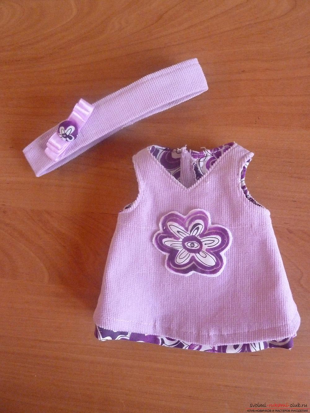 Платье для куклы большеножки своими руками