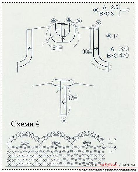 Как связать крючком платье для девочки, схемы, выкройки, описание вязания и фото двух платьев. Фото №9