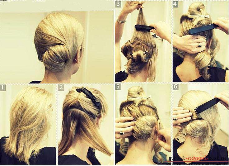 Учимся делать красивые прически на средние волосы своими руками. Фото №6